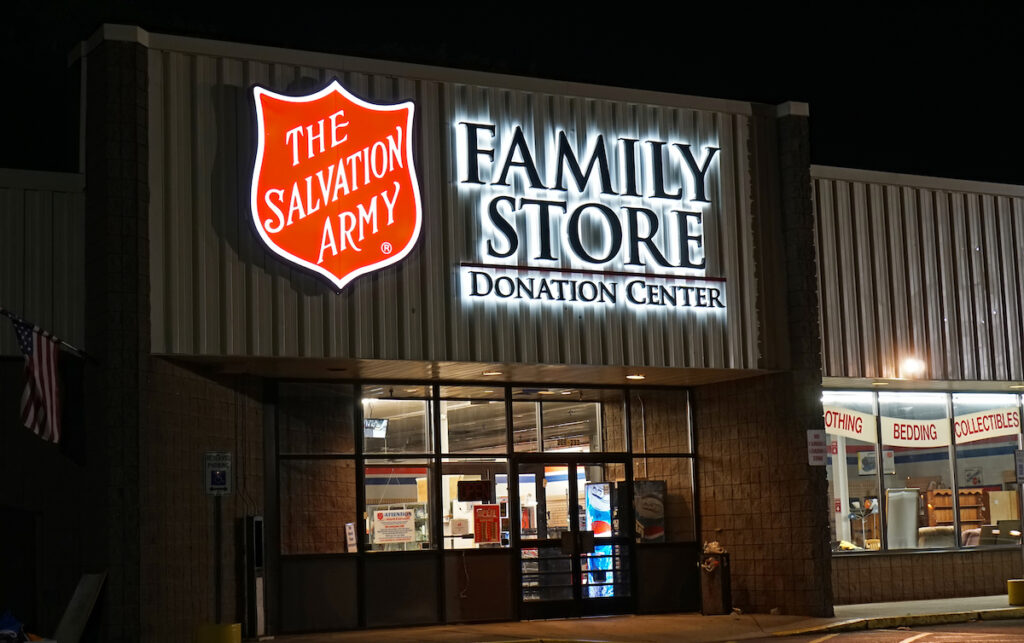 salvation army storefront